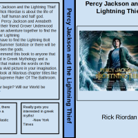Student Book Review: Lowell's review of Percy Jackson and the Lightning Thief, by Rick Riordan