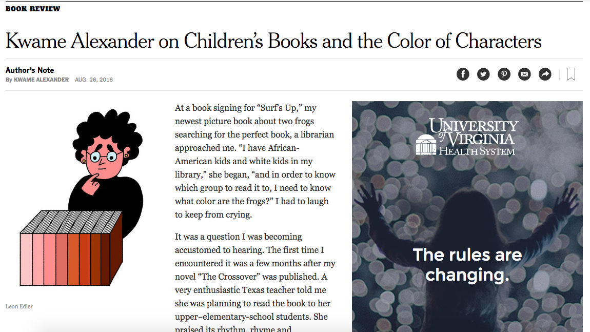 Kwame Alexander On Childrens Books And The Color Of Characters