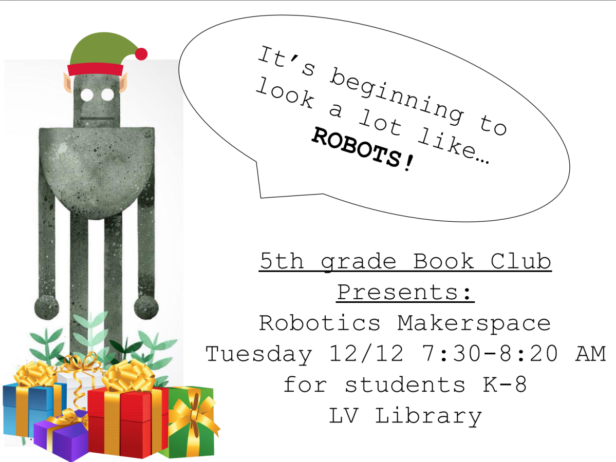 Robotics Makerspace next Tuesday, 12/12!