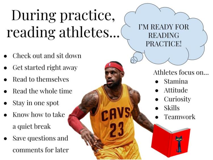 Reading Practice Anchor Chart (Basketball)