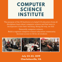You're Invited: 2019 Computer Science Institute