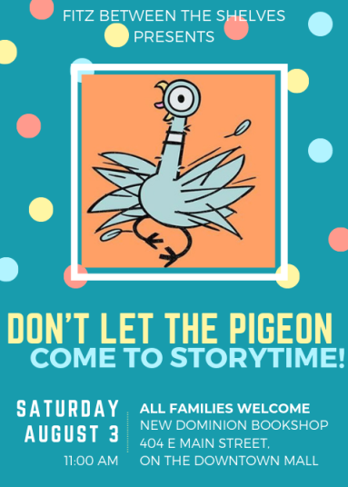 don't let the pigeon come to storytime